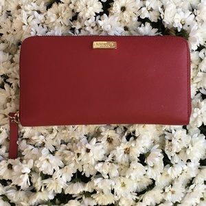 Red Kate Spade wallet (women) Authentic